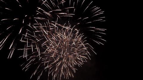 Multiple fireworks explosion Footage