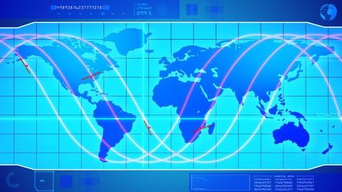 Scanning telecommunication satellite Stock Video Footage