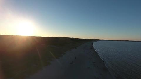 Ostsee-juliusruh-sonnenuntergang Footage