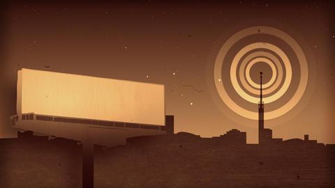 Round shape emission Animation
