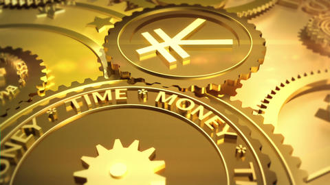 Time is money. Financial metaphor Animation