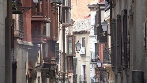 Residential Buildings In European Town Live Action