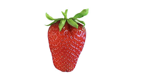 Rotating strawberry. Loopable Footage