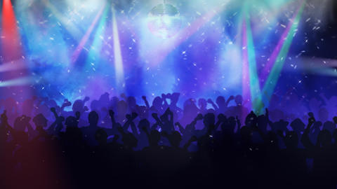 Crowd on a concert Animation