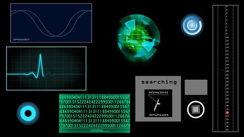 Futuristic screen, tracking Animation
