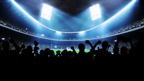 Flashing Stadium Lights During Game Stock Video Footage