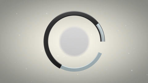 3D Atom Logo Reveal Animation