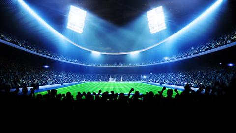 Flashing stadium lights during game Animation