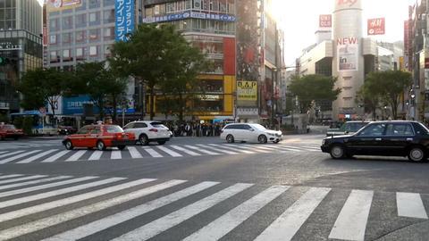 Crowded crossroads in Shibuya, Tokyo Footage
