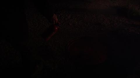 Skateboard falling into manhole Footage