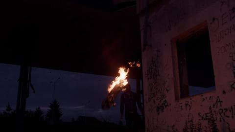 Skateboard on fire ビデオ