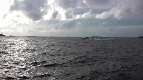 SPEED BOATS ON HIGH SEAS- MALDIVES Footage