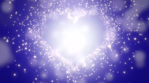 Closeup blue hearts of love, wedding background CG動画