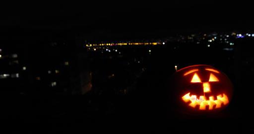 Candlelight halloween pumpkin head Live Action