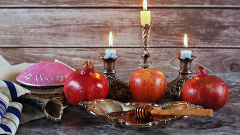 Rosh hashanah jewish New Year holiday concept Live Action