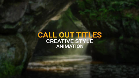 Call Out Titles After Effects Template