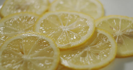 Lemon slices rotating Live Action