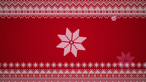 Knitted Christmas Style Visual Of Stars Popping Up Seamlessly Looping Video Background Animation