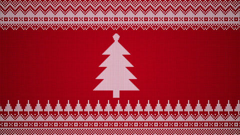 Sideways Scrolling Christmas Patterns In A Knitted Style With Graphic Patterns Animation