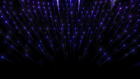 Video Backdrop Of A Curtain Of Small Blue Lights With Streaks Looping Seamlessly Animation