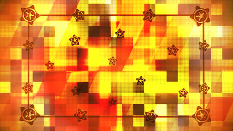 Broadcast Hi-Tech Slant Squares Frame, Multi Color, Abstract, 3D, Loopable, 4K Animation