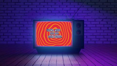 Retro TV Logo Premiere Pro Template