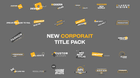Corporate Title Pack MOGRT Motion Graphics Template
