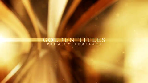 Golden titles After Effects Template