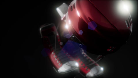 hockey equipment in the dark Live Action