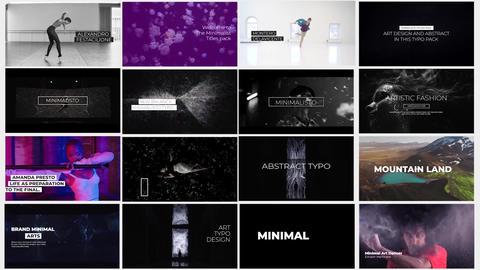 Premier Minimalisto Typo Premiere Proテンプレート