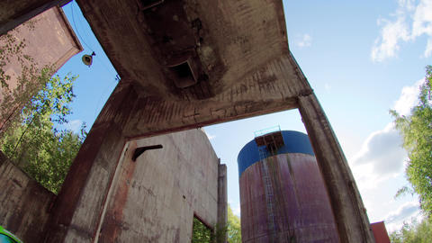 Rural Decay Abandoned Industrial Equipment Live Action