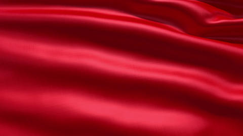 Slowly waving red fabric background Stock Video Footage