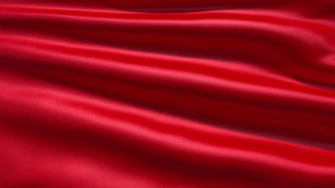 Slowly waving red fabric background Animation