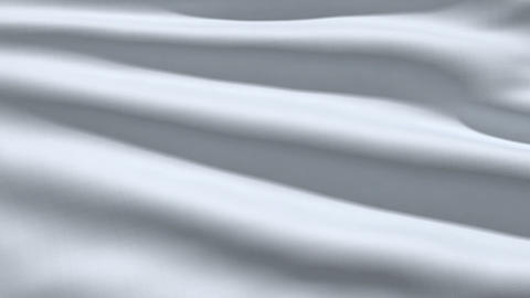 Slowly waving white fabric background Animation