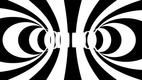 stripe rings tunnel Stock Video Footage