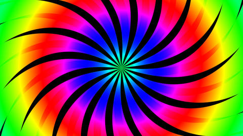 twirl hypnotize color Animation