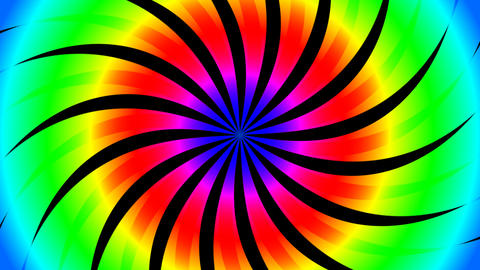 twirl hypnotize color Stock Video Footage