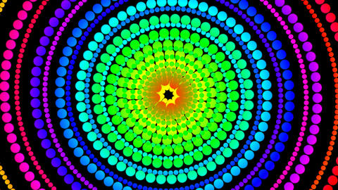dot colour hypnotize Stock Video Footage