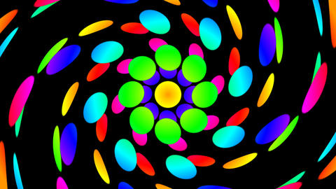 colorfull dot twirl Stock Video Footage