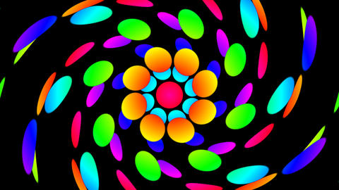 colorfull dot twirl Animation