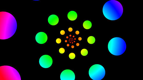 colorful circle spiral Stock Video Footage