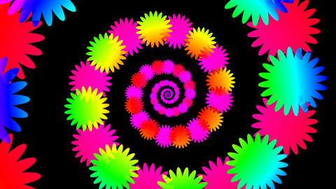 colorful flower hypnotize Stock Video Footage