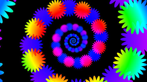 colorful flower hypnotize Animation