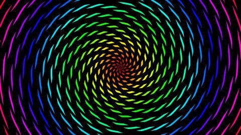 color pieces hypnotize Stock Video Footage