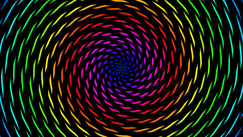 color pieces hypnotize Animation