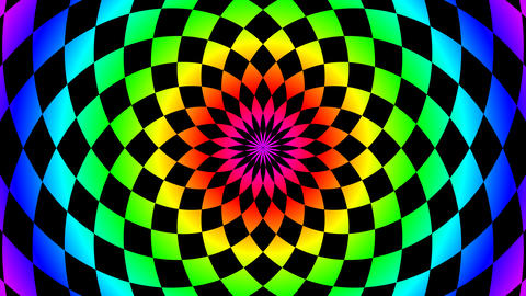 radial colorful board Stock Video Footage
