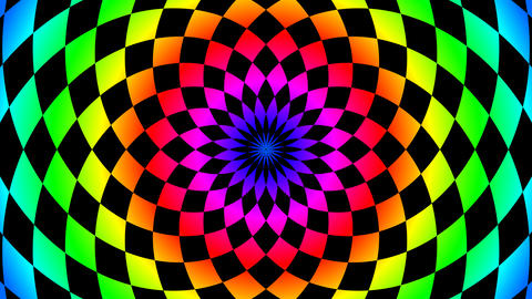 radial colorful board Animation