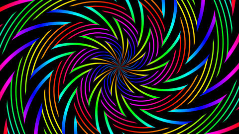 colorfull tribal hypnotize Stock Video Footage