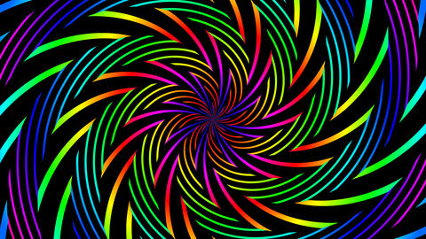 colorfull tribal hypnotize Animation