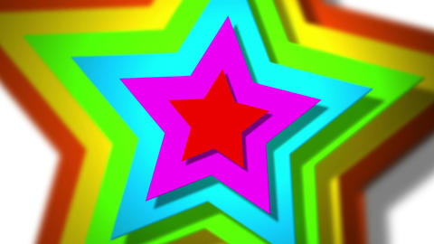 spinning stars Stock Video Footage